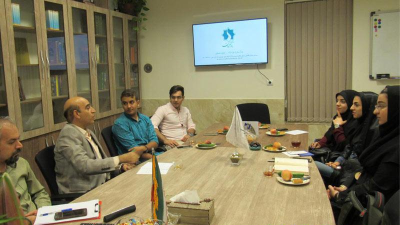 حضور دانشجویان دانشگاه علوم پزشکی سمنان در موسسه راه آسمان