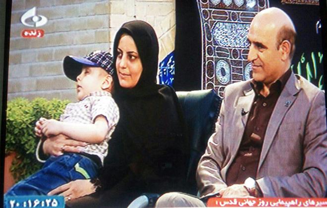حضور آقای صدیقی و خانم دکتر اقوامی به همراه خانواده محترم منیری در برنامه زنده تلویزیونی97/3/17