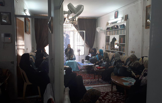برگزاری جلسه آموزش و پیشگیری از سرطان در محفل مذهبی97/3/7