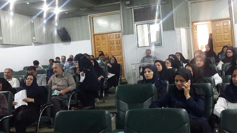 برگزاری جلسه آموزش و پیشگیری از سرطان در بیمارستان امیرالمومنین 97/2/24