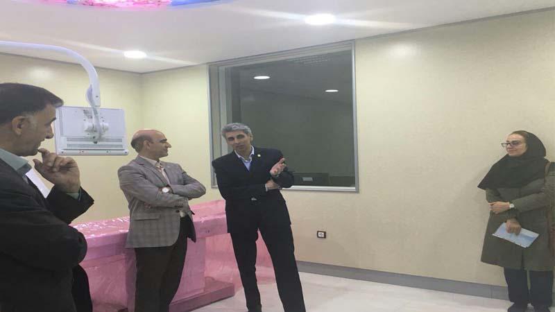 بازدید سرپرست محترم دانشگاه علوم پزشکی استان سمنان ،از مرکز در شرف تاسیس پزشکی هسته ای راه آسمان