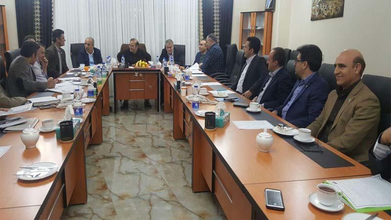 حضور پروفسور رشیدی پور و مدیر عامل راه آسمان در انجمن توسعه مهدیشهر