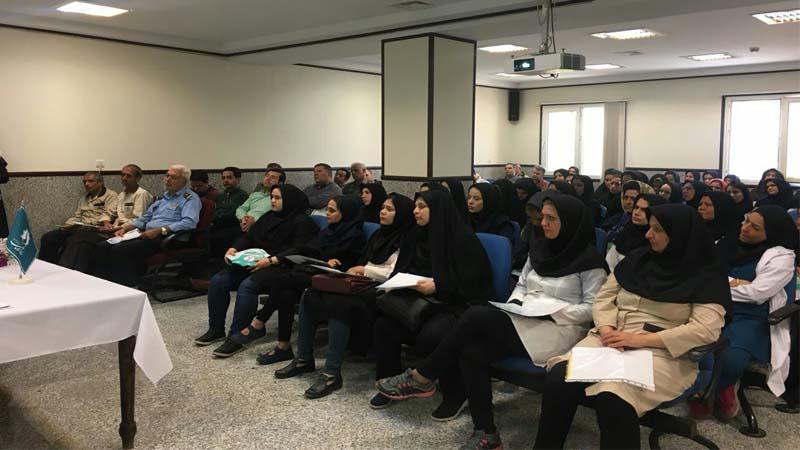 جلسه آموزش و پیشگیری از سرطان در بیمارستان معتمدی گرمسار
