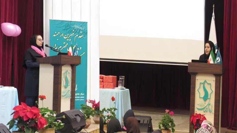 حضور مدرسان افتخاری راه آسمان در همایش ملی سرطان پستان به همراه آموزش و سخنرانی 26 مهر