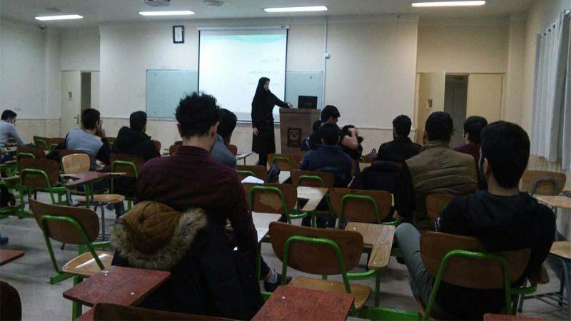 راه آسمان و برگزاری جلسه آموزشی ایدز در دانشکده مهندسی دانشگاه سمنان 1397/9/11