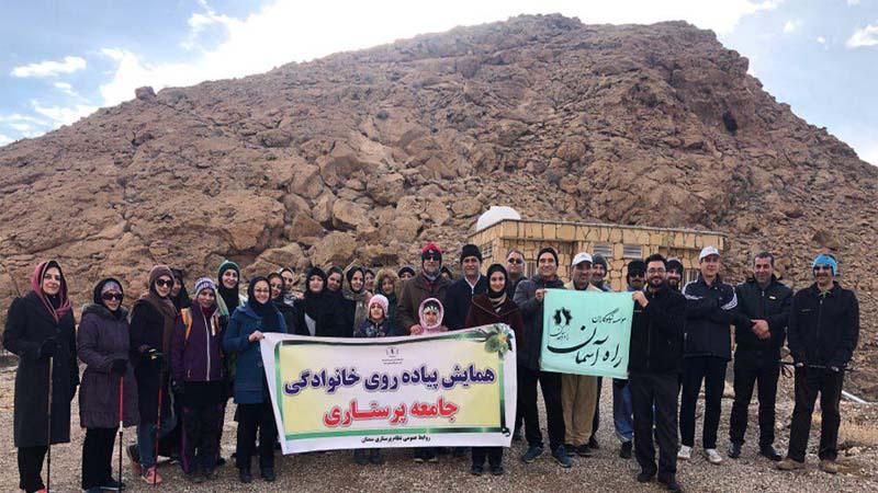 پیاده روی همنوردان راه آسمان در جاده سلامت استان سمنان 28 دی 97