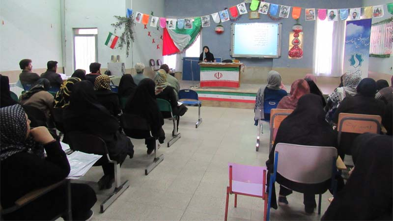 حضور اولیاء مدرسه پسرانه امید نجات  در جلسه آموزشی راه آسمان 1397/11/16