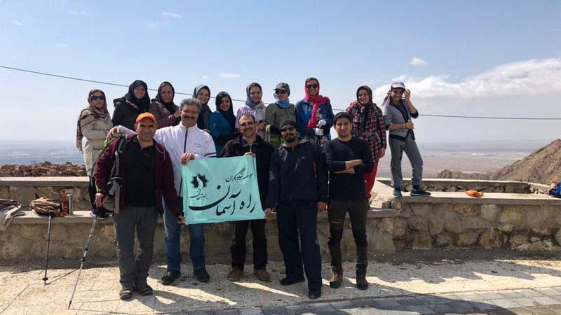 گزارش تصویری از پیمایش مسیر چندران گروه همنوردان راه آسمان - 30 فروردین98