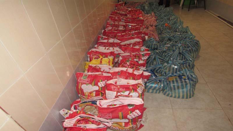 تهیه و توزیع 106 سبد کالا به خانواده های تحت پوشش به مناسبت ماه رمضان