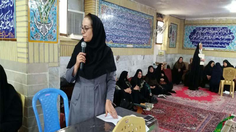 حضور مدرس افتخاری راه آسمان در جمع نمازگزاران مسجدالرضای سمنان