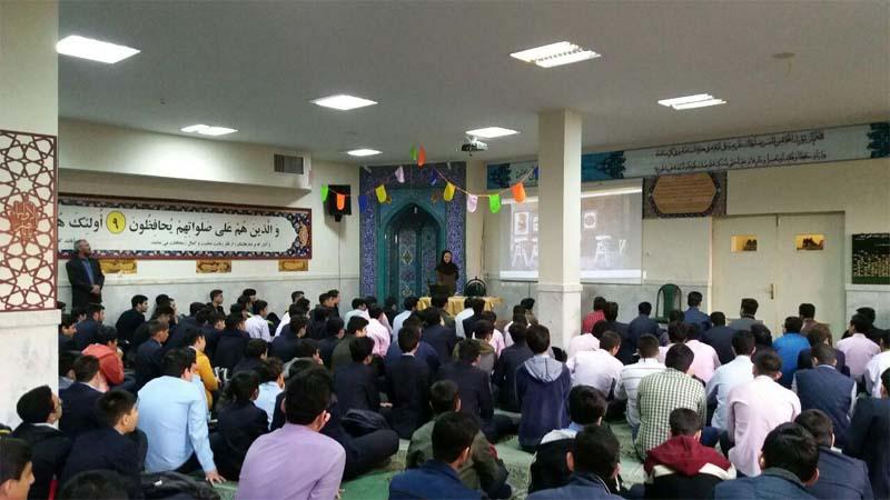 تشکیل اولین کلاس آموزشی موسسه ی نیکوکاران راه آسمان در مجتمع آموزشی پسرانه ی رفاه سمنان در سال ۹۸