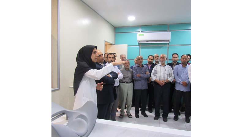 بازدید خادمین حرم رضوی و نمایندگان آستان قدس رضوی از مرکز پزشکی هسته ای راه آسمان