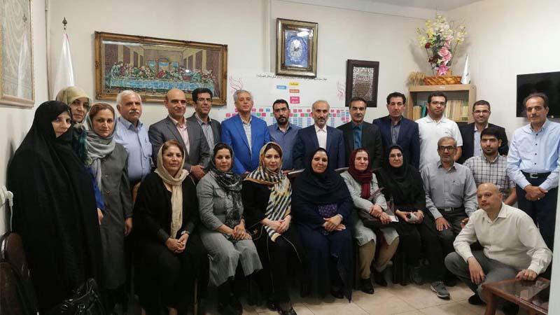 گرد همایی مدیران و نمایندگان موسسات خیریه همچنین بنیاد نیکوکاران راه آسمان در مهرانه تهران