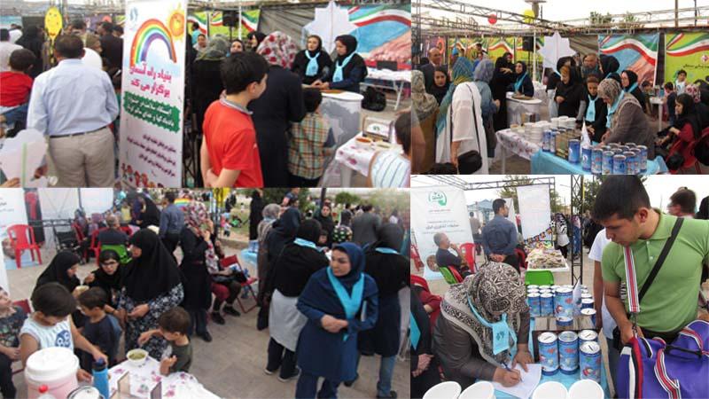استقبال پرشور مردم همدل، همراه و خیر استان از غرفه راه آسمان در جشنواره بادبادکها و غذای سالم کودک