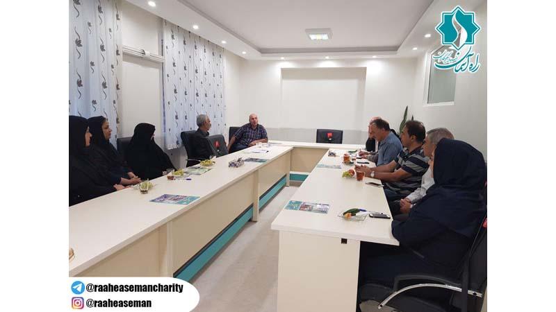 برگزاری جلسه هیأت اجرایی شاهرود با حضور مدیر عامل بنیاد راه آسمان در دفتر جدید شاهرود