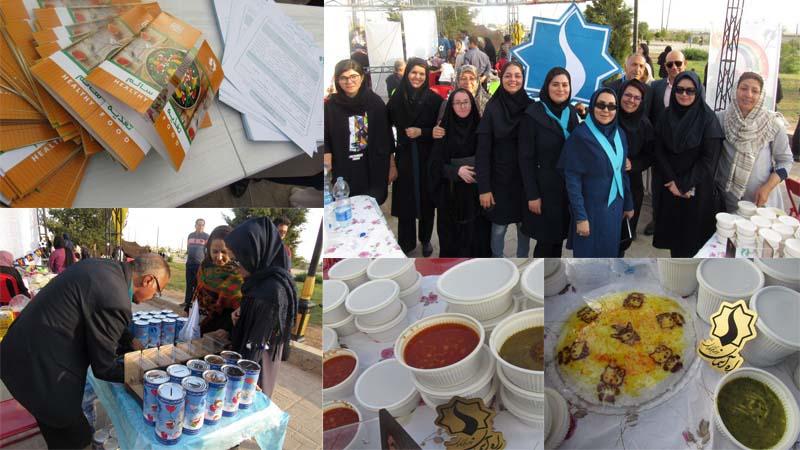 حضور بنیاد راه آسمان در جشنواه بادبادکها و غذای سالم کودک