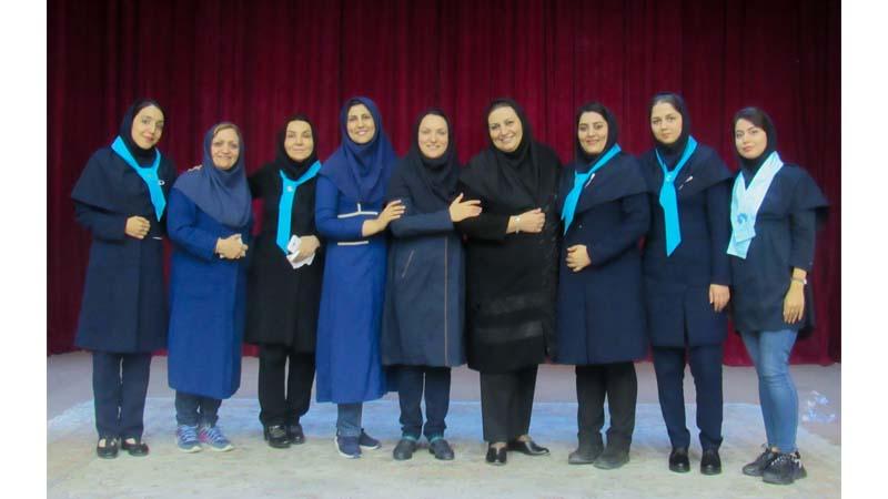 حضور مدرسین افتخاری و کارکنان راه آسمان در پویش ملی مبارزه با سرطان پستان
