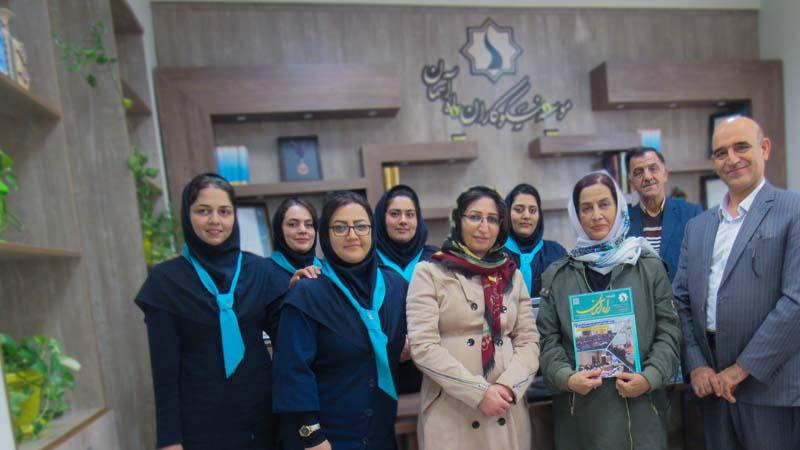 حضور خیر عزیز ایرانی مقیم آمریکا در بنیاد و بازدید از مرکز پزشکی هسته ای راه آسمان