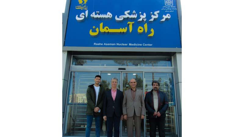 بازدید خیر بازار تهران و عضو محترم هیأت امناء بنیاد از مرکز پزشکی هسته ای راه آسمان