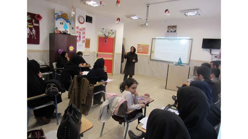 آخرین جلسه مهارتهای دهگانه راه آسمان ویژه ی انجمن علمی معلمان استان سمنان