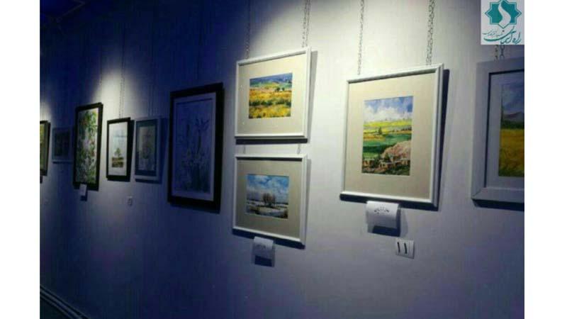 تابلو هنرمند شاهرودی تقدیم مسیر راه آسمان شد