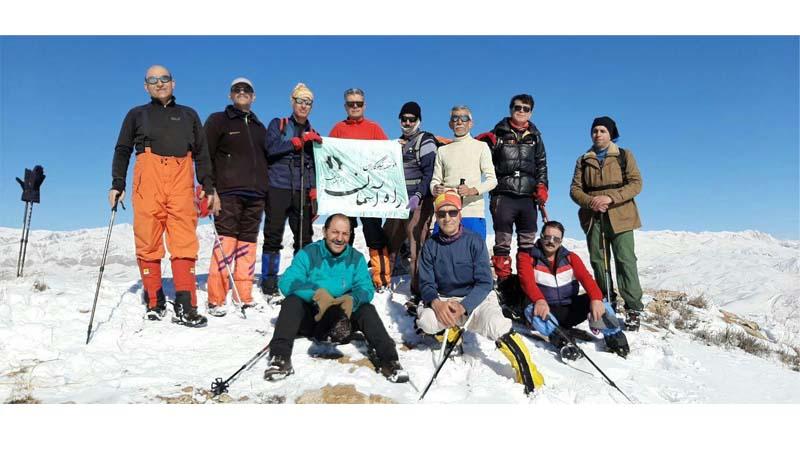 برف پیمایی ارتفاعات شهمیرزاد و صعود به قله بلو در اولین جمعه بهمن ماه 1398