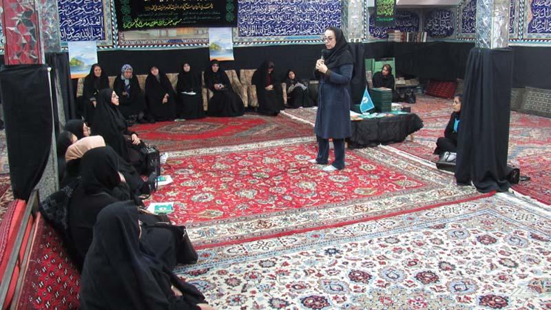 جلسه آموزش و پیشگیری از سرطان پستان بهمراه معاینه و غربالگری در مسجد صاحب الزمان