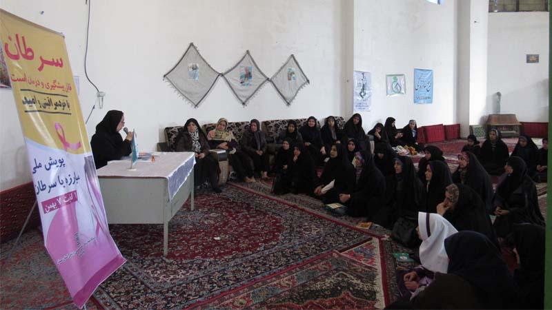 کارگاه آموزشی راه آسمان با مشارکت مرکز بهداشت شهرستان سمنان در مسجد پیامبر اعظم