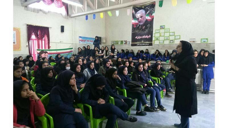 برگزاری جلسه آموزشی راه آسمان در مدرسه دخترانه سادات