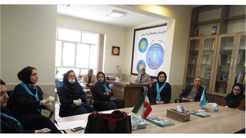 برگزاری جلسه آموزشی در خصوص بیماریهای تنفسی برای پرسنل بنیاد راه آسمان