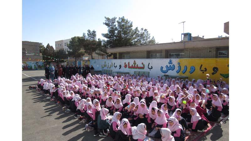 جشنواره تغذیه سالم دانش آموزی با مشارکت دبستان دخترانه شاهد و بنیاد راه آسمان