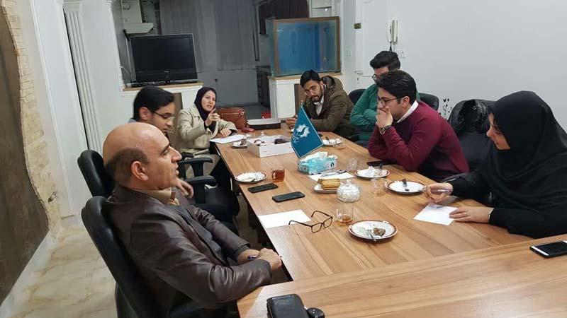 جلسه کمیته دانشجویی در دفتر مدیریت توسعه مشارکتهای بنیاد