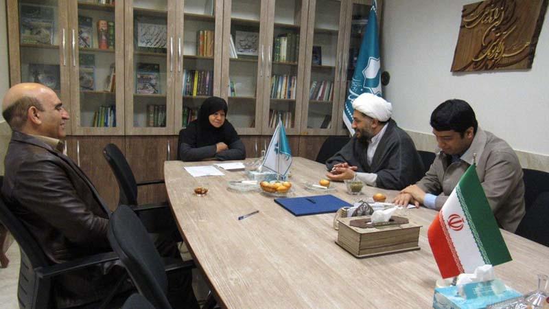جلسه هماهنگی امور مددکاری با حضور حجت السلام جمشیدی؛ نماینده دفتر خدمات حوزه های علمیه استان
