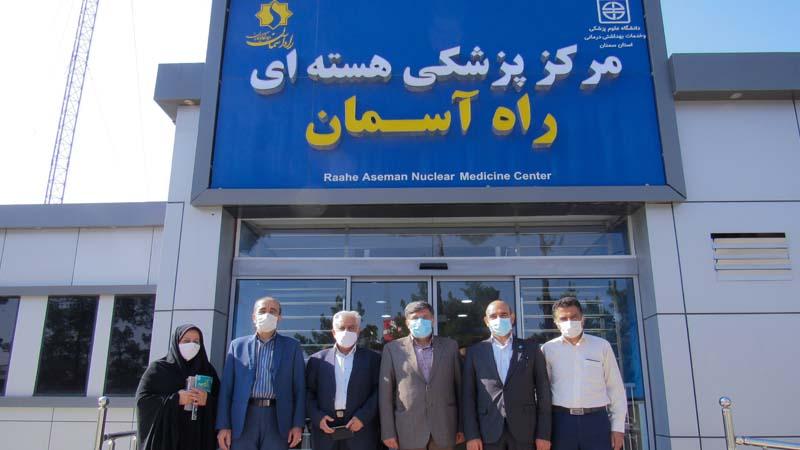 بازدید مدیر کل فرهنگ و ارشاد اسلامی استان سمنان از مرکز پزشکی هسته ای راه آسمان