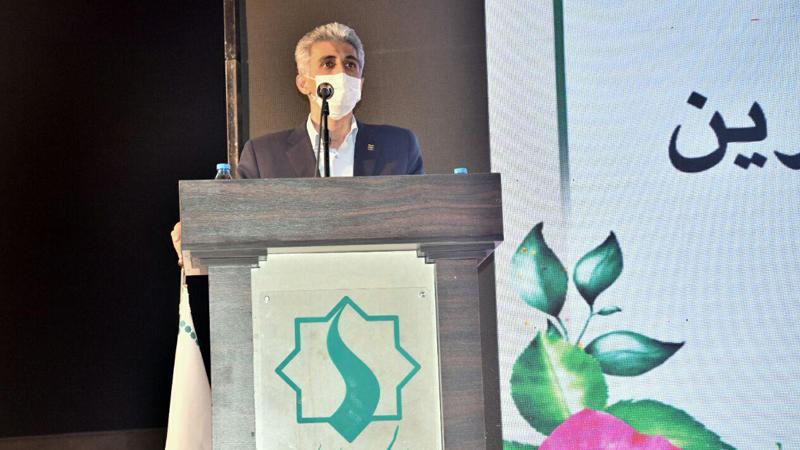 سخنرانی دکتر دانایی رئیس دانشگاه علوم پزشکی سمنان در گردهمایی آغاز پروژه بزرگ مجتمع امید راه آسمان