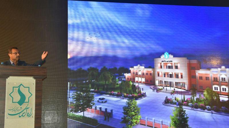 سخنرانی پروفسور خیرالدین عضو هیأت امناء بنیاد در گردهمایی آغاز پروژه بزرگ مجتمع امید راه آسمان
