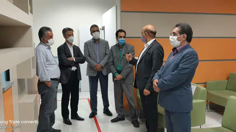 بازدید اعضا هیأت مدیره انجمن صنایع استان سمنان از مرکز پزشکی هسته ای راه آسمان