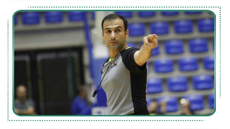 محمدرضا صالحیان اولین ناظر بین المللی بسکتبال کشور از استان سمنان شد
