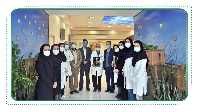 تقدیر از پرستاران زحمتکش و دلسوز مرکز پزشکی هسته ای راه آسمان بمناسبت روز پرستار