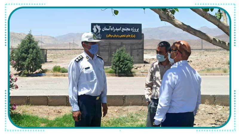 بازدید رییس پلیس راهور سمنان از پروژه مجتمع مرکز جامع تشخیص و درمان سرطان راه آسمان