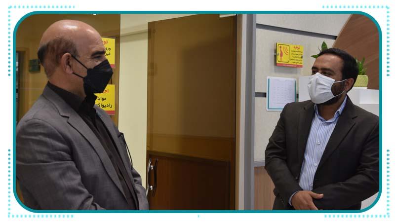 بازدید مدیر صندوق بیمه اجتماعی کشاورزان استان سمنان از مرکز پزشکی هسته ای راه آسمان